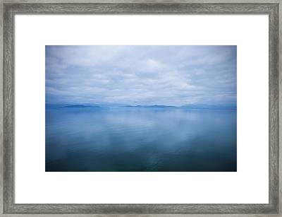 Beautiful Moody Sky Reflected Framed Print