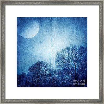 Beautiful Moonlight Photos Framed Print by Boon Mee