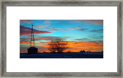 Beautiful Mornin' Panorama Framed Print