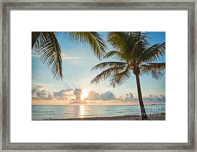 Beautiful Morning In Ft. Lauderdale Florida Framed Print by Sharon Dominick