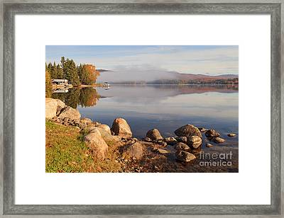 Beautiful Morning On Island Pond Framed Print