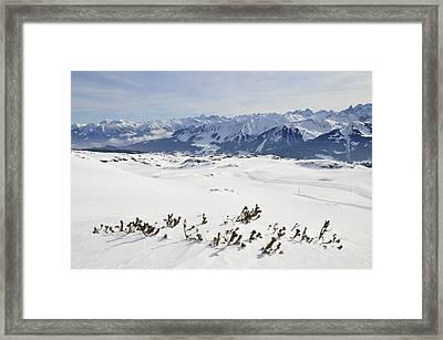 Beautiful Mountain Landscape In Winter Framed Print
