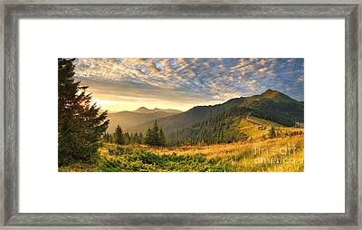 Beautiful Mountains Landscape Framed Print by Boon Mee