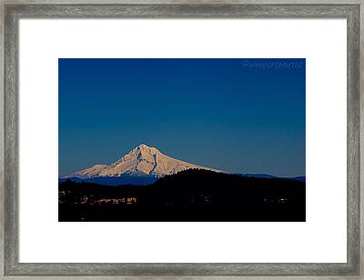 Beautiful Mt Hood Framed Print