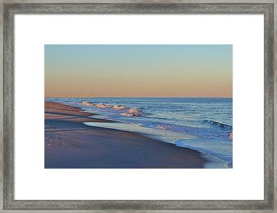 Beautiful Ocean In Nc Framed Print by Cynthia Guinn