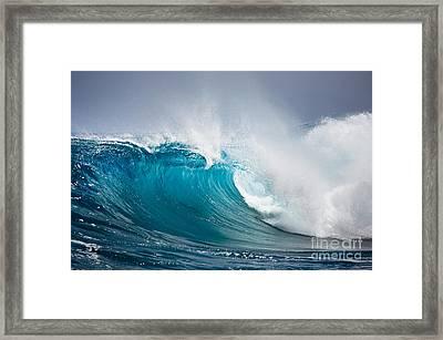 Beautiful Ocean Wave Framed Print by Boon Mee