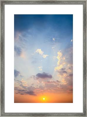 Beautiful Orange Sunset Framed Print