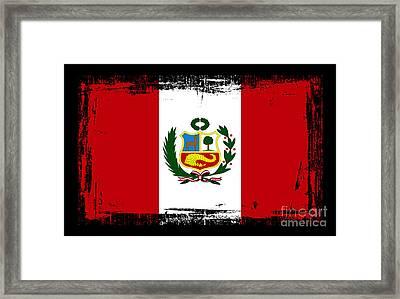 Beautiful Peru Flag Framed Print