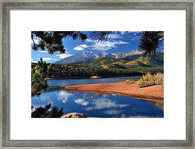 Beautiful Pikes Peak At Crystal  Framed Print