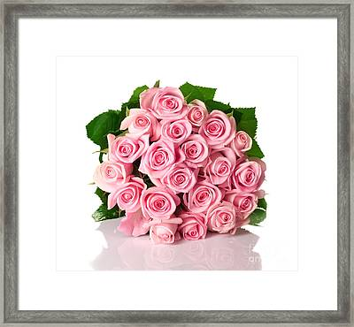 Beautiful Pink Rose Bouquet Framed Print by Boon Mee