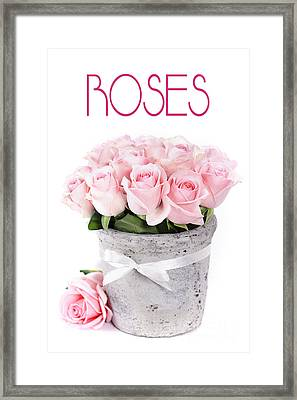 Beautiful Pink Roses Valentine Framed Print by Boon Mee
