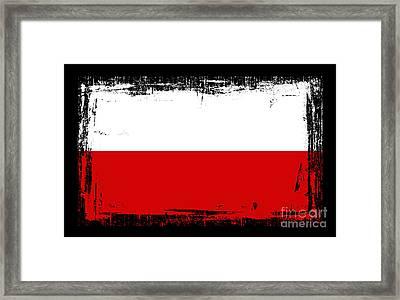 Beautiful Poland Flag Framed Print