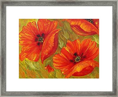 Beautiful Poppies Framed Print