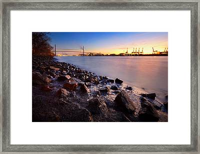 Framed Print featuring the photograph Beautiful Port Of Hamburg by Marc Huebner