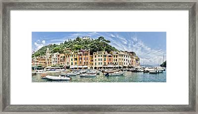Beautiful Portofino Framed Print by Mesha Zelkovich