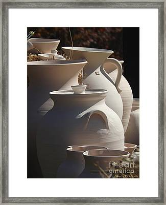 Beautiful Pottery Framed Print by Christy Ricafrente