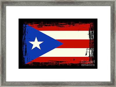 Beautiful Puerto Rico Flag Framed Print