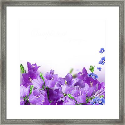 Beautiful Purple Flower Frames Framed Print by Boon Mee