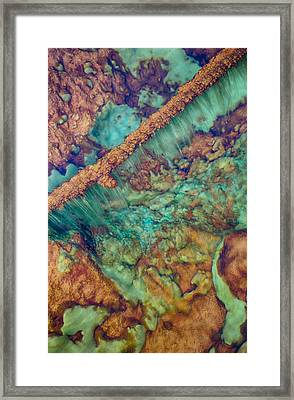 Beautiful Rebar Hot Springs Framed Print