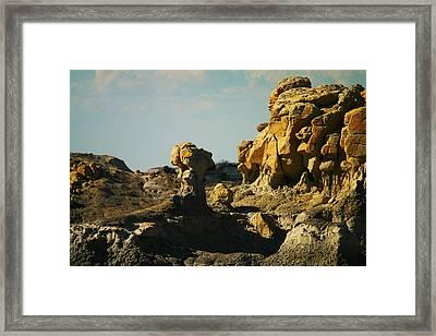 Beautiful Red Rock Framed Print