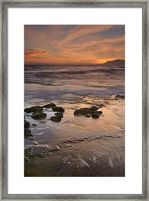 Beautiful Red Sunset Framed Print by Guido Montanes Castillo