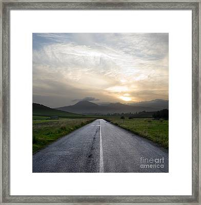 Beautiful Road Framed Print by Boon Mee