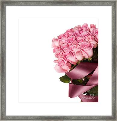Beautiful Rose Bouquet Framed Print by Boon Mee