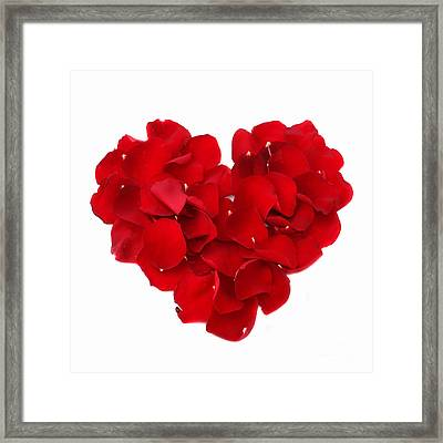Beautiful Rose Heart Valentine Framed Print by Boon Mee