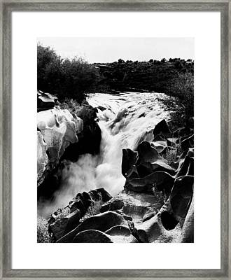 Beautiful Rushing Water Framed Print by Retro Images Archive