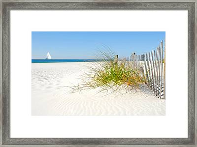 Beautiful Sand Dune Framed Print by Boon Mee