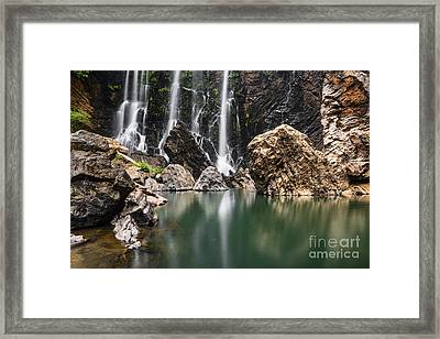 Beautiful Satoddi Falls In Western Ghats India Framed Print by Vishwanath Bhat