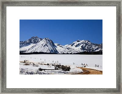 Beautiful Sawtooth Mountains Framed Print by Robert Bales