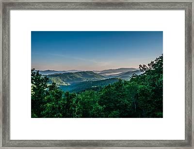 Beautiful Scenery From Crowders Mountain In North Carolina Framed Print