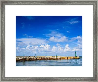 Beautiful Sea Sky Framed Print by Boon Mee