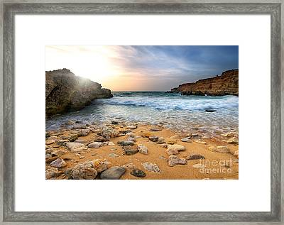 Beautiful Sea Stones Framed Print by Boon Mee