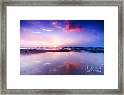 Beautiful Sea Sunrise Framed Print by Michal Bednarek