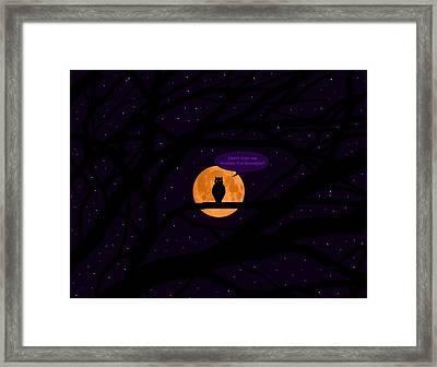 Beautiful Silent Predator Framed Print