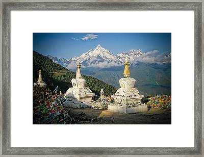 Beautiful Snow Mountain - Meili Xue Shan Framed Print