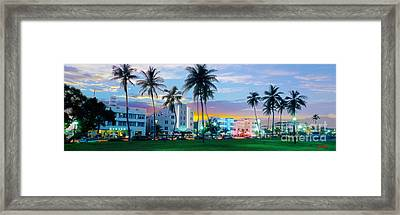 Beautiful South Beach Framed Print by Jon Neidert