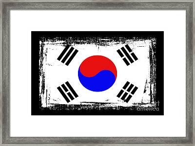 Beautiful South Korea Flag Framed Print