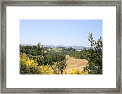 Beautiful Spot - Crete Senesi Framed Print