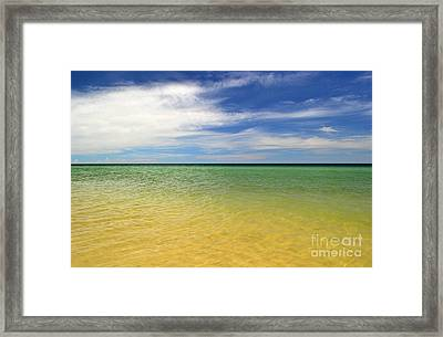 Beautiful St George Island Water Framed Print by Holden Parker