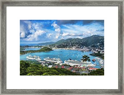 Beautiful St. Thomas Framed Print by Kathy Jennings