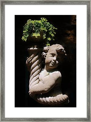 Beautiful Statue Framed Print by Joy Bradley
