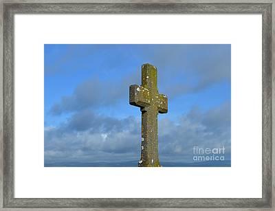 Beautiful Stone Cross In Ireland Framed Print