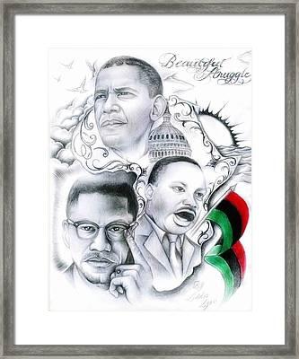 Beautiful Struggle Framed Print by Eddie Egesi