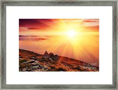 Beautiful Summer Landscape Framed Print by Boon Mee