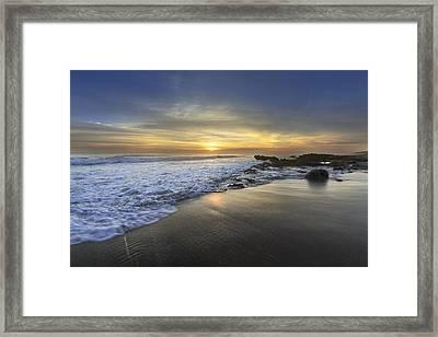 Beautiful Sunrise Framed Print by Debra and Dave Vanderlaan