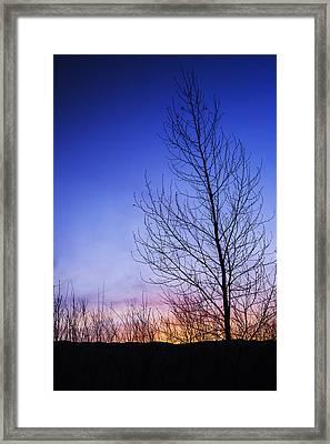 Beautiful Sunrise In Boise Idaho Usa Framed Print by Vishwanath Bhat
