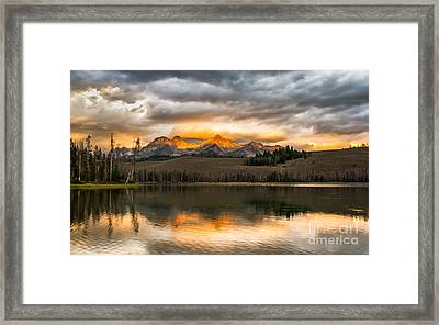 Beautiful Sunrise On Little Redfish Lake Framed Print